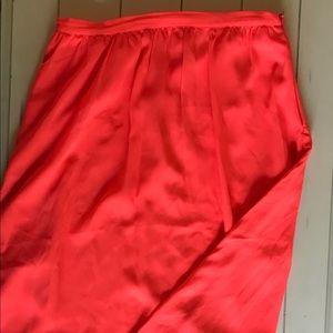 Philosophy neon orange midi skirt